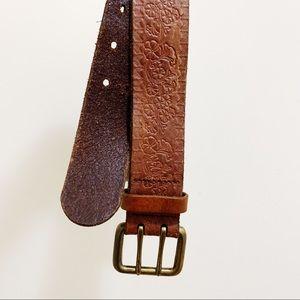 GAP Brown Tooled Leather Belt